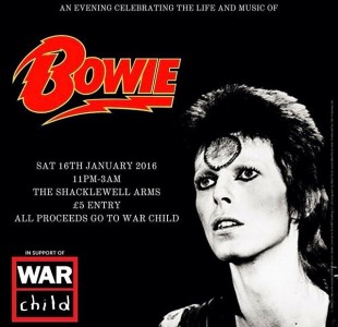 DJING AT DAVID BOWIE TRIBUTE ON SAT 16TH JAN